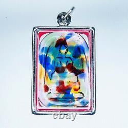 SOMDEJ LEKLAI KAEW RAINBOW magic lucky thai buddha amulet protect Rare LP 978