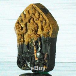 Set of 3 Thai Amulet Buddha Khun Paen PraiMaeLamDuan Ghost Holy Herb LT Noi #502