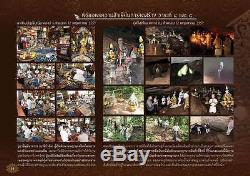 Silver 925 Statues 3.9 cm Buddha Naga Pok Thai Amulet Good Fortune Wealth