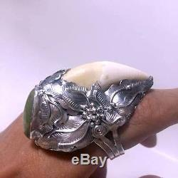 Silver Rings 925 Bear Tooth Turquoise Thai Buddha Amulets Persist Immune Wealth