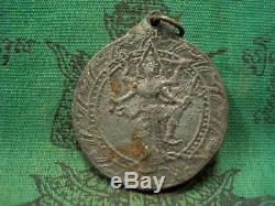 Somdej LP Toh Thamcha Narayana God Wat Rakang be. 2411 Old Thai Buddha Amulet
