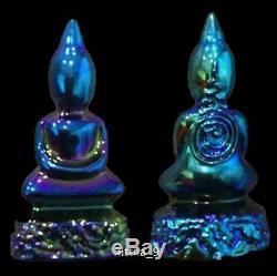 Somdej Leklai Rainbow 7 Color Kruba Itti Thai Buddha Amulet Sacred Wish Rich