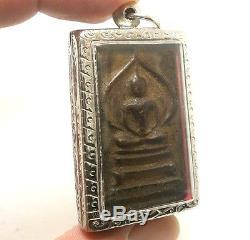 Somdej Nirvana Lp Boon Thai Buddha Amulet Magic Yant Lucky Happy Success Pendant