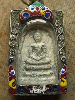 Somdej Toh Wat Rakhang Thai Buddha Amulet 160 yr old Phim Yai beautiful casing