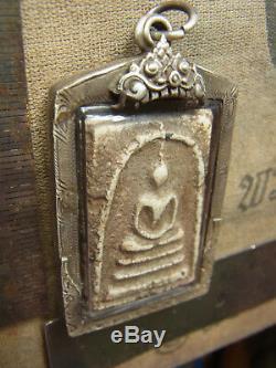 Somdej Toh Wat Rakhang Thai Buddha Amulet Phim Ket Thaloo Soom, Antique case