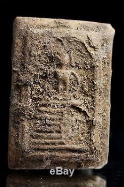 Starving Buddha with Organic Fragments Thai Buddha Amulet Loi020 GENUINE