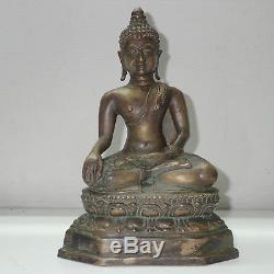 Statue Phra Buddha Shakyamuni Bronze Figure Big Holy Thai Amulet
