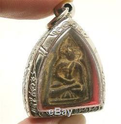 Super Rare Lp Boon Buddha In Dharma Shield Magic Jindamanee Thai Amulet Pendant