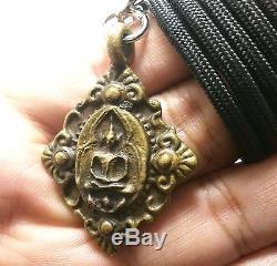 Super Rare Lp Boon Lord Buddha Samadhi Magic Metal Coin Real Thai Amulet Pendant