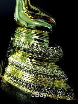 Thai Amulet Buddha Lp Wat Raiking Statue Gold Plated Enriching Prosperity