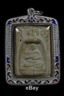 THAI BUDDHA AMULET Phra Somdej Toh, LP. Nak, Wat Rakhang, with takrud, be. 2495