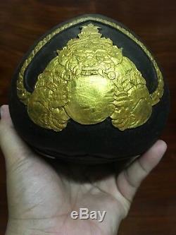 THAI Buddha AMULET Kala Rahu Kae One Eye coconut shell good luck THAI CARVING