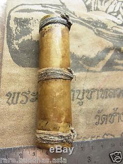 Takroot, Takrut, Luang Phor Ngern from wat Bangkhlan phichit, Thai Amulet, Buddha