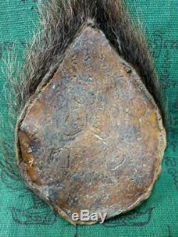 Takrut Tiger Head Skin Talisman LP Kong Buddha Talisman Powerful Thai Amulet