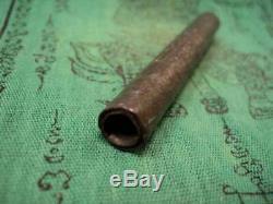 Takrut Yant Hand Wrote 1st Batch Kruba BoonChum LP Boon Chum Thai Buddha Amulet