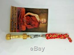 Takrut Yantra 84 Thai Buddha Amulet Good Luck Money Wealth Charm Magic Pendant
