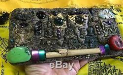 Talisman Buddha Huge Power Devil Magic Palang Lokathat Takrut Thai Amulet Wood