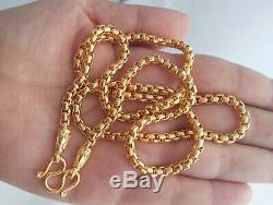 Thai Amulet Buddha GP 1 Hook Lp Gold Necklace Plated Chain Yellow 24 Inch Women