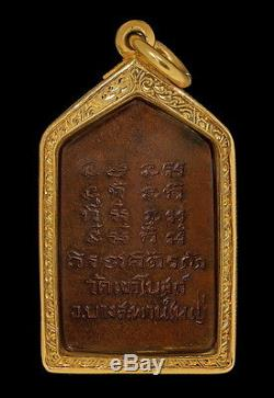Thai Amulet Buddha Lp Tumh(srirawimol)wat Khaobot Bangsaphan With Gold Case