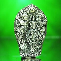 Thai Amulet Buddha Metteyya Phra PathomNaga Srisuttho Real Silver W. Wimuttidham
