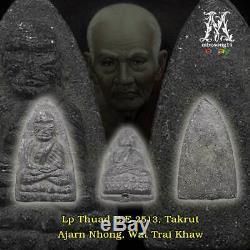 Thai Amulet Buddha Old Lp Thuad Takrut Ajarn Nong Magic Lucky Pendant Amulets