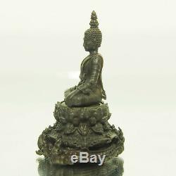 Thai Amulet Buddha PHRA KRING Samret Mini Statue 4cm Nawa Wat SawangArom #2