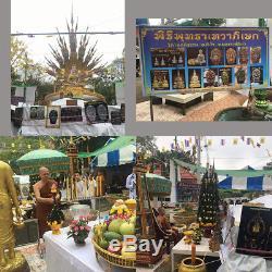 Thai Amulet Buddha Phra Pathom Naga Srisuttho Real Silver W. Wimuttidham No. 1