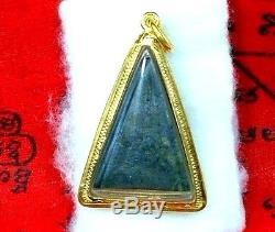 Thai Amulet Buddha Phra Somdej Leklai Carved 24K Pure Solid Gold Pendent Amazin
