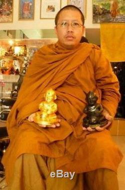 Thai Amulet Buddha Sculpture Kuman Thong Ghost Bone From Lanna Recipe Ceremony