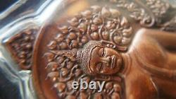 Thai Amulet Buddha with Clear acrylic frame Waterproof