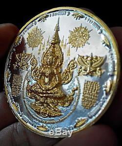 Thai Amulet Holy Buddha Alien UFO 1st coin Power lucky, prosper Ajarn Mom Rare