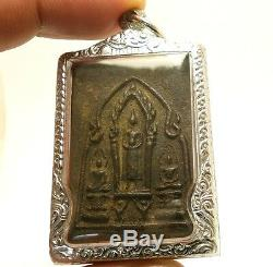 Thai Amulet Lp Boon Lord Buddha & 2 Disciple Love Harmony Healing Health Pendant