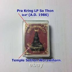 Thai Amulet Old Buddha LP So Thon Temple Sothon Worawiharn Chachoengsao Rare