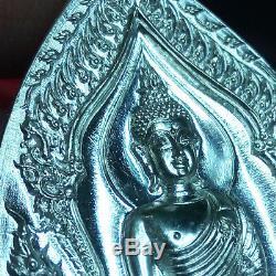 Thai Amulet Pendant Buddha & CaiShenYe Real Silver Phra MahaSurasak BE2560 &