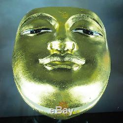 Thai Amulet Pendant Buddha Face Phra BuddhaPhak 9.5cm Holy Powder Wat BangWeak