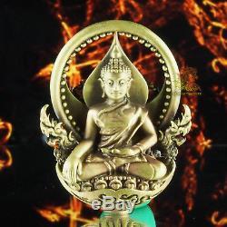 Thai Amulet Pendant Buddha Garuda Phayakrut LP DabPai Blass#492 Silver Case