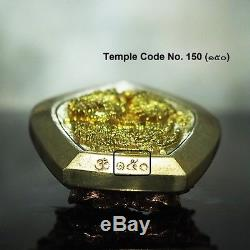 Thai Amulet Pendant Buddha Patihan PerdLok Open World 3K Silver Wat Wimuttidham