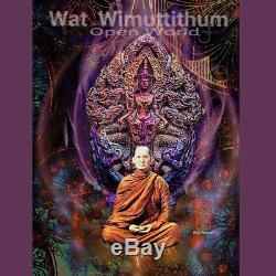 Thai Amulet Pendant Buddha Patihan PerdLok Open World Nawa Wat Wimutidham BE2560