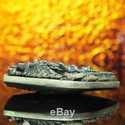 Thai Amulet Pendant Buddha Patihan PerdLok Open World Real Silver Wat Wimutidham