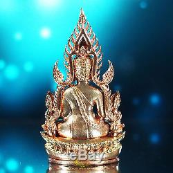 Thai Amulet Pendant Phra Buddha Chinnarat Bronze V. Jom Rachan W. Yai silver case