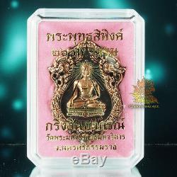 Thai Amulet Pendant Phra Buddha SiHing Bronze Kring Winyaphorn Wat PhraMahaThat