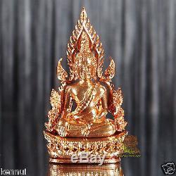 Thai Amulet Phra Buddha Chinnarat Bronze Mini Statue V. Jom Rachan Wat Yai BE2555