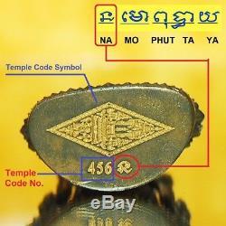 Thai Amulet Phra Buddha Chinnarat Nawa Mini Statue V. Jom Rachan Original Temple