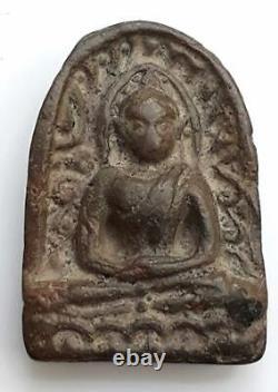 Thai Ancient Amulet Buddha Phra Sum Kor Kru Kamphaeng Phet Good Holy For Lucky