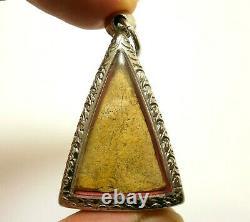 Thai Antique Phra Nangphaya Real Powerful Buddha Lucky Rich Happy Amulet Pendant