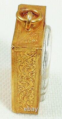 Thai Buddha 22K Pendant Gold Amulet Holy Auspicious Solid Yellow Handmade Real