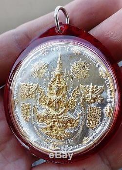 Thai Buddha Amulet Alien Ufo Ajarn Mhom 2tone Great Talisman Buddhist Limited