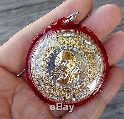Thai Buddha Amulet Alien Ufo Ajarn Mhom 2tone Great Talisman Buddhist Monk Luck