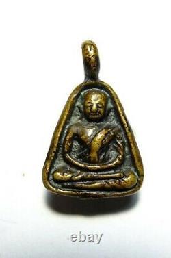 Thai Buddha Amulet Certificated Phra Lp Ngern Wat Bangklan Be 2460