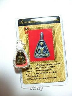 Thai Buddha Amulet Certificated Phra P Lp Ngern Wat Bangklan Be 2460